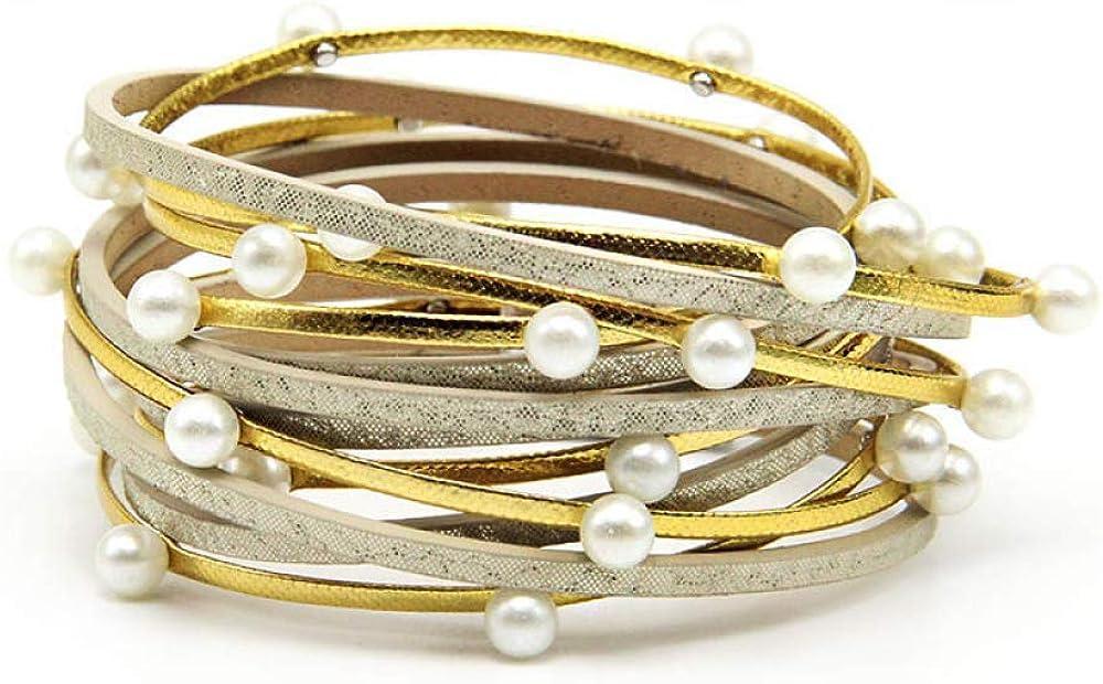 Regular store Superior Wrap Leather Bracelet Charm Bracelets Br Buckle Magnet Bangles