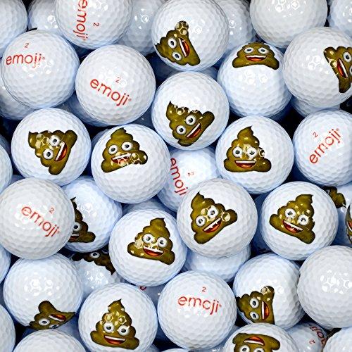Emoji Poop Forma di Palline da Golf (Confezione da 100 Pezzi, Colore: Bianco