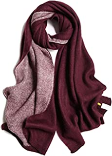 Women Cute Scarves Double-Side Color Super Soft Warm Warps Shawls