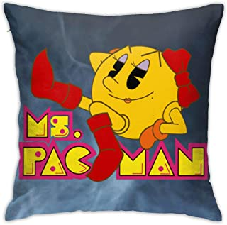 NFEMNEO Ms.Pa C-Man Throw Pillow Cover Decorative Sofa Square Cushion Pillowcases 18x18 Inch