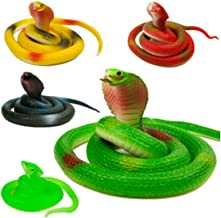 5 Pcs 30 inch Plastic Snakes Coiled Prop Toy Snakes, Snake Toys For Children, Prank, Prop, Gardens, Party Favors, Halloween & Decorations