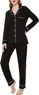 Women's Pajamas Set Long Sleeve Sleepwear Button Down Nightwear Soft Pj Lounge Sets