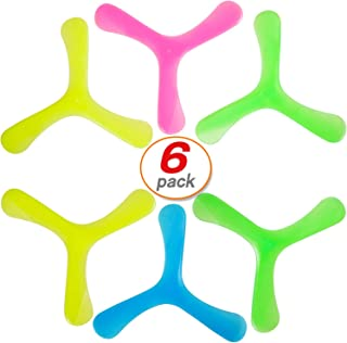 Yo-fobu 6 Pack Boomerangs Speed Racer Fast Catch Toy Easy Returning Boomerang for Kids and Adults