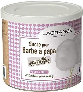 LAGRANGE Boîte de 500 g de sucre barbe à papa Vanille 380006