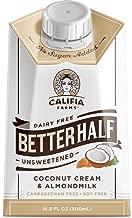 Califia Farms Unsweetened Better Half Coffee Creamer, 16.9 Fl Oz (Pack of 6) | Coconut Cream and Almondmilk | Half & Half | Dairy Free | Whole30 | Keto | Vegan | Plant Based | Nut Milk | Non-GMO