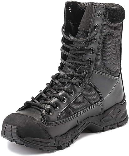 Wthfwm botas tácticas para el Aire Libre de los fanáticos del ejército de los hombres botas de Combate TransPiñables botas Militares ultraligeras botas Altas para el Desierto Negras Unisex