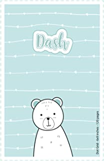 Dash: Personalized Name Dot Grid Paper Notebook | 6x9 inches | 120 pages: Note Book for drawing, writing notes, journaling...