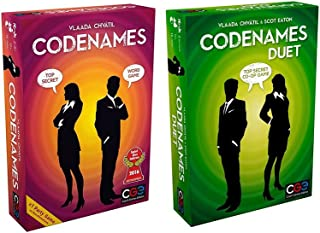 Codenames bundle Set with Codenames and Codenames Duet by Czech Games (2 items)