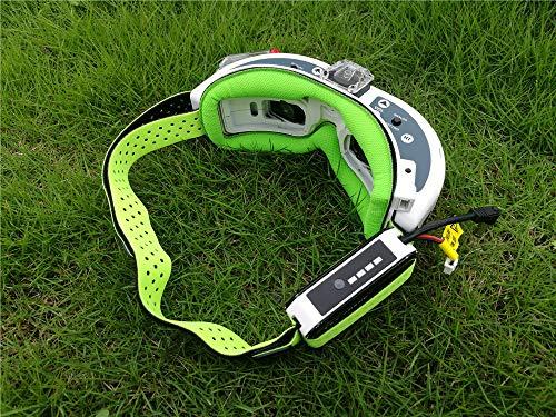 KINGDUO Fatshark FPV Gafas Correa De La Cabeza con Placa Frontal Esponja Magic Sticking Cinta para FPV RC Drone-Verde