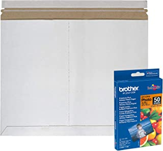 APQ Pack of 10 White Rigid Mailers 11 1/2 x 9. Side-Loading Paperboard envelopes 11.5 x 9 Self-Seal Photo mailers. Peel and Seal Closure. No Bend documents, Photos, Diplomas. Ideal for CD, DVD