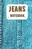 Jeans notebook: Ruled notebook with jeans design - Size 6 X 9 inches - notebook to fill - 101 lined pages - Very nice gift - Because of its small ... be stored in a bag - Notepad for reminder.