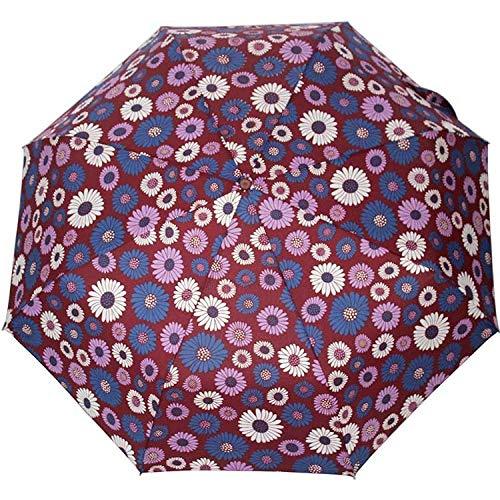 Parasol Parapluie Creative Fleur Automatique Parapluie Pluie Femmes Hommes 3 Pli Léger Et Durable Fort Parapluies Colorés Pluvieux Ensoleillé Rouge