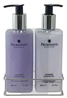 Pecksniff's Lavender and White Tea Hand Wash and Body Lotion Set