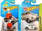 Hot Wheels Snoopy #59 & Herbie The Love Bug Volkswagen #53 Peanuts Tooned & Disney Movie Replica All-Stars car set IN CASES 2014-15