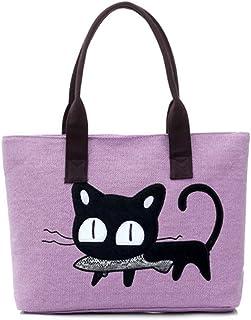 a0b788c2ed Wicemoon Sac Cabas Femmes,Femmes Sac à main Modèle de chat de dessin animé,