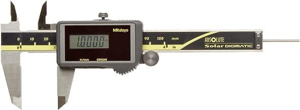Mitutoyo 500-473 Absolute Digital Caliper, Stainless Steel, Solar Powered, Inch/Metric, 0-4
