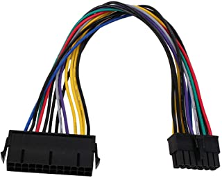 Cotchear (30 سم 12 بوصة) 24 دبوس إلى 14 دبوس PSU الرئيسية محول التيار الكهربائي ATX كابل لـ Lenovo IBM