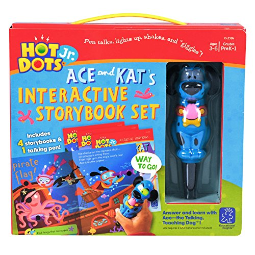 Educational Insights Hot Dots Jr. Interactive Storybook, 4 Books & Interactive Pen, Homeschool, Early Learning Activities for Ages 3+