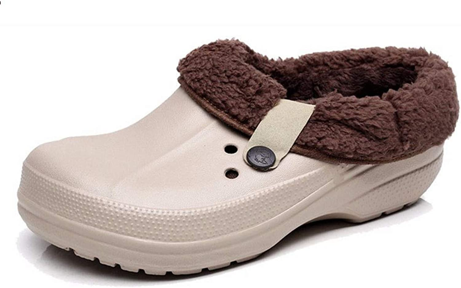 SANOMY Women's Winter Warm Clogs Candy color Garden shoes EVA Waterproof Slippers for Indoor, Outdoor