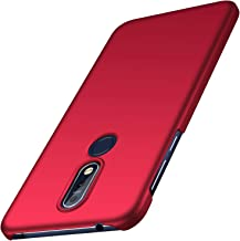 Nokia 7.1 Case, Almiao [Ultra-Thin] Minimalist Slim Protective Phone Case Back Cover for Nokia 7.1 (Smooth Red)