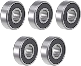 uxcell 607-2RS Deep Groove Ball Bearing 7x19x6mm Double Sealed ABEC-3 Bearings 5-Pack