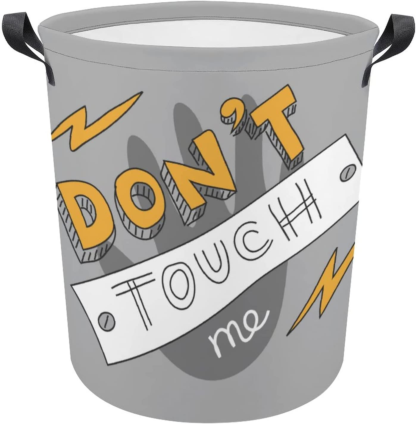 Funny Don't Touch Me Quote Cartoon Laundry Hamper Oxford Sale Special Price Gift Dealing full price reduction Po