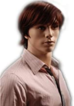 GOOACTION Male Short Fluffy Red Natural Full Hair with Bangs Cool Style Halloween Cosplay Synthetic Wigs for Men