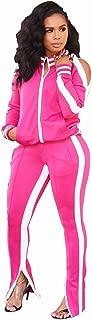 ZJFZML Women's Long Sleeve Zip Up Coat Pockets Sweatpants Sport Jogger