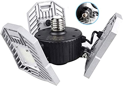 Garage Light Tanbaby LED Garage Light E26/E27 Garage Lights Ceiling LED Shop Light 60W Deformable Garage Lights LED G...