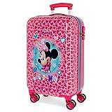 Disney Minnie Help on the day Kabinenkoffer Rosa 37x55x20 cms Hartschalen ABS Ko