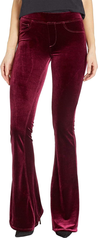[BLANKNYC] Blank NYC Womens PullOn Velvet Flare Pants in Identity Crisis