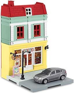 Mille Ti Rana ミニカー お店 つながる街 車 セット (おもちゃ屋 玩具店 BMW X6)