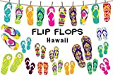 Anokay Hawaii Deko Girlande Party - Girlanden Flip Flop - Strand Sommer Dekoration