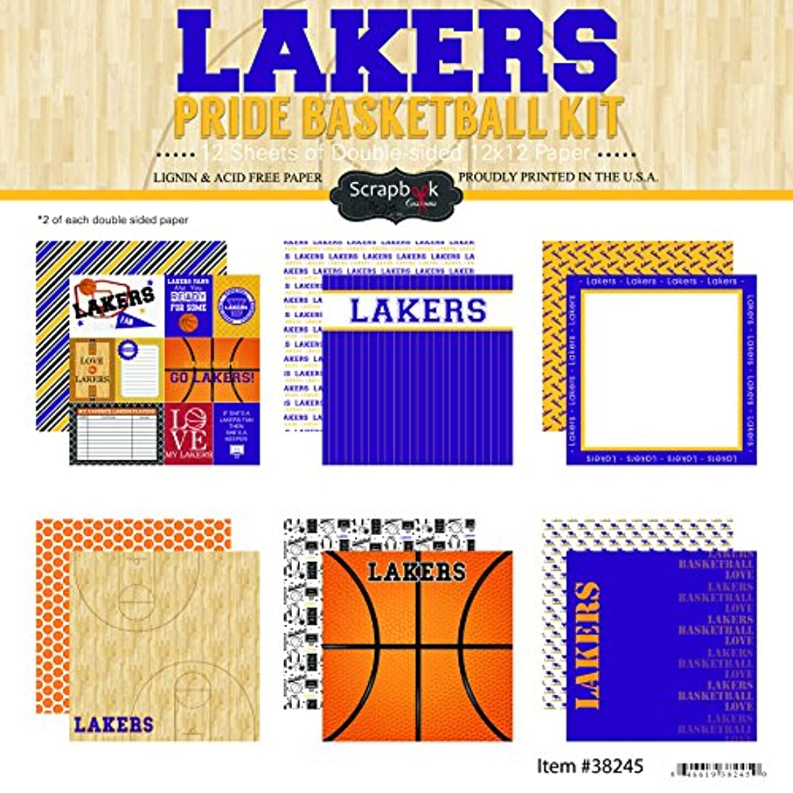 Scrapbook Customs Lakers Pride Scrapbook Kit