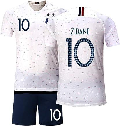 NO.10 Zinedine Zidane Real Madrid Fu/ßball Sportbekleidung Trikots T-Shirts Sportbekleidung Erwachsene M/änner und Frauen Teenager Fu/ßball Jungen M/ädchen Westen