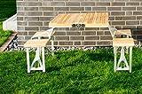 Merschbrock Trade GmbH Picknickbank, Holz Aluminium, klappbar