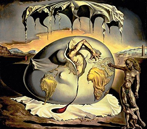 Cuadro METACRILATO Formato Cuadrado Coleccion Salvador DALÍ: Niño geopolítico observando el Nacimiento del Nuevo Hombre (100_x_100_ cms.)