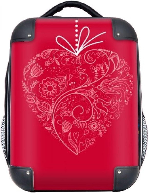 DIYthinker Herz-geformte Blaumen-Rebe Valentinstag Hard Case Schulter Kind-Rucksack-Geschenk 15