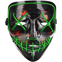 Tcamp Halloween LED Cosplay Costume Mask for Halloween Festival Party