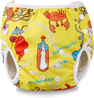 Hotwon Baby Boy Girl Swim Diapers Washable Bathing Suits Fashion Adjustable Baby Swimsuits 0-2T