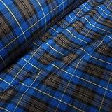 Royal Blue, Black Grey &, Polyester, Viskose, Karomuster,