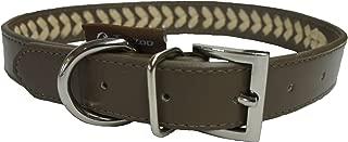 260 x 1,8 cm Rantow Guinzaglio in Pelle Resistente con Manico a Treccia e Chiusura in Metallo per Cani di Taglia Media Chiusura in Rame