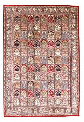 Nain Trading Indo Ghom 296x204 Orientteppich Teppich Dunkelbraun/Lila Handgeknüpft Indien