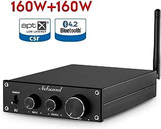 Nobsound A2 HiFi Bluetooth Class D Power Amplifier Home Stereo Audio Amp APTX-LL 160W x 2