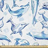ABAKUHAUS Ocean Life Stoff als Meterware, Skizze von