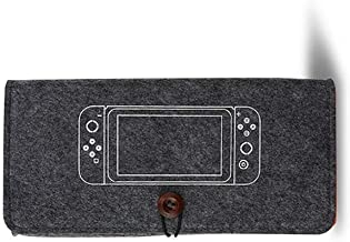 Cypropid Portable Carrying Case for Nintendo Switch, Travel Carrying Bag Ultra Slim Professional Protective Felt Pouch for Nintendo Switch 2019 with 5 Games Cartridges Holders – Dark Grey