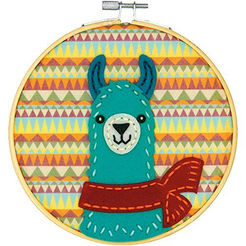 Llama DIY Felt Applique Kit-6""