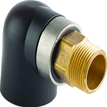 Viega 39009 ProRadiant GeoFusion HDPE Socket Fusion Adapter with 1-1//2-Inch by 1-1//2-Inch IPS x Male NPT