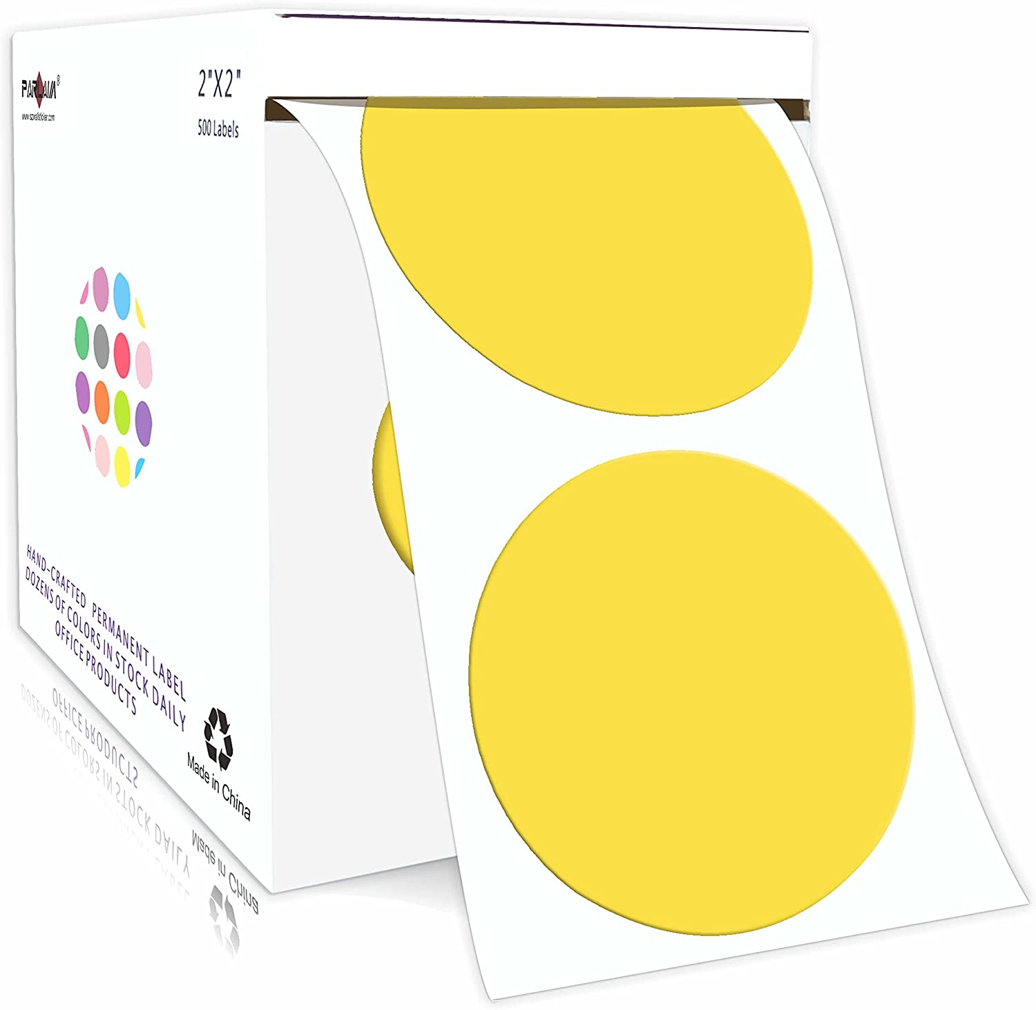 """PARLAIM 2""""Color Choice Coding Labels Stickers per 500 P Complete Free Shipping Round Roll"""