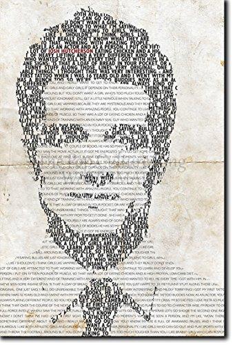 TPCK Josh Hutcherson Kunstdruck - einmaliges typografisches Design - Hochglanz Fotodruck Poster - Größe: 60 x 40 cm